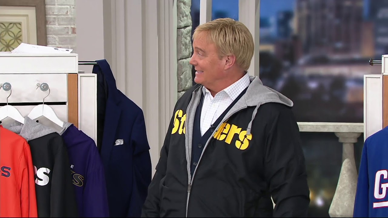 wholesale dealer e95b4 63624 NFL Reversible Hoodie and Jacket in Team Colors on QVC