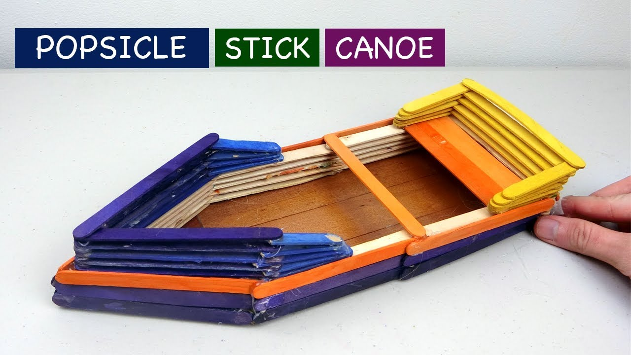 Popsicle Stick Boat Canoe Diy Easy Craft Ideas Youtube