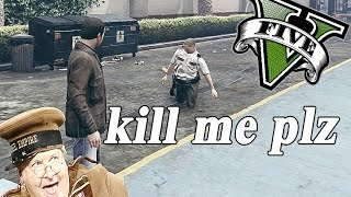GTA V PC - Ragdoll Peds ! and Benny Hill ??? (Unstoppable Force Mod)
