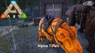 ARK comes Alive mod, Alpha T Rex, Let's Play, How to, Video