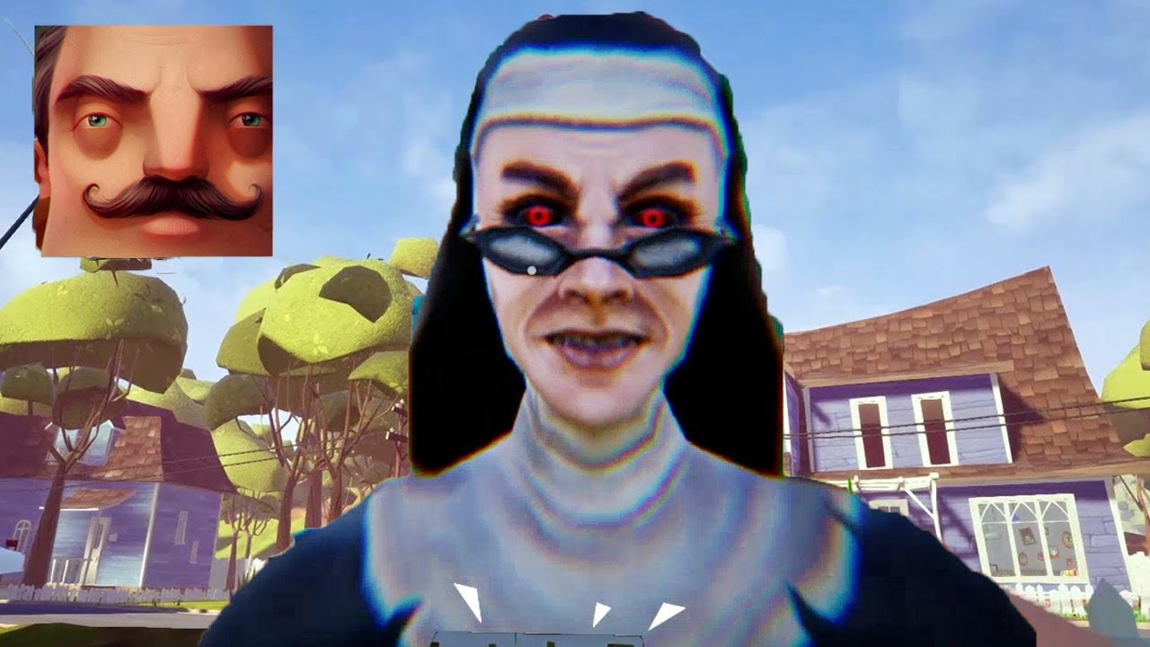 Download Hello Neighbor - My New Neighbor Evil Nun Maze Act 2 Gameplay Walkthrough