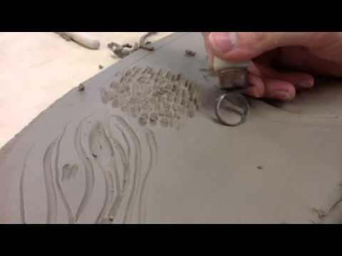 Clay decorating techniques: loop tools