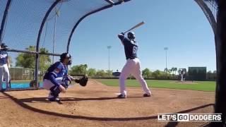 Dodgers Cody bellinger vs. Rich Hill 2017 Spring training