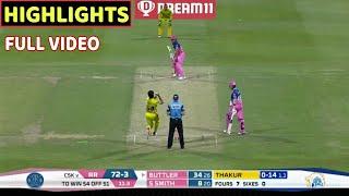 Chennai super kings vs Rajasthan Royals 37th IPL 2020 Full Highlights • RR VS CSK FULL HIGHLIGHTS
