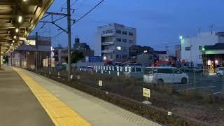 【名鉄MH】真横で鳴り終わり! 1011F大江駅通過ミュージックホーン