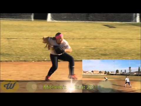 Michelle Miller's Softball Skills video - 2015 2B/3B - WA Ladyhawks 18Gold-Hawkins