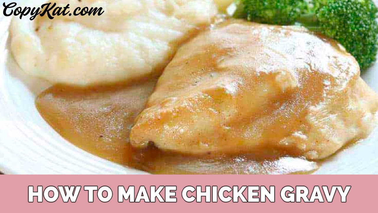 Make Chicken Gravy With Pan Drippings