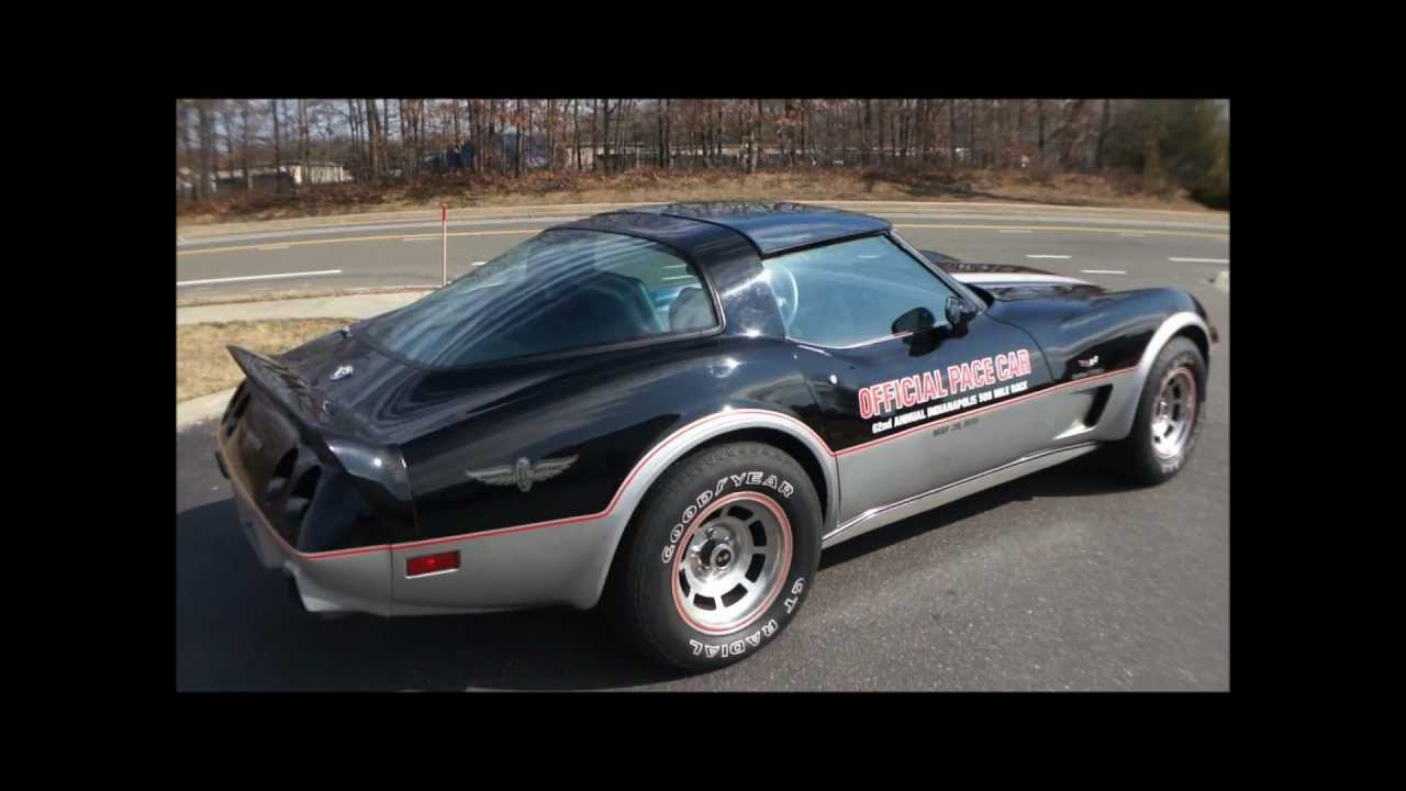 1978 corvette indy 500 pace car for sale only 3444 miles youtube. Black Bedroom Furniture Sets. Home Design Ideas