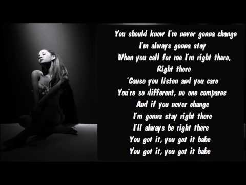 Ariana Grande - Right There Karaoke / Instrumental with ...