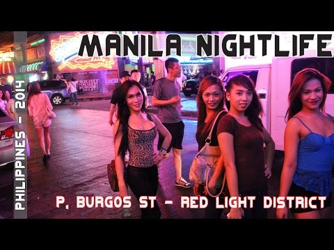 Manila Philippines Nightlife - Makati's P. Burgos Street