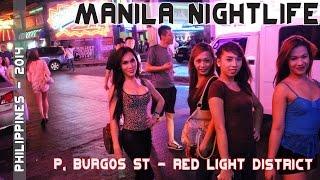 Manila Philippines Nightlife - Makati's P. Burgos Street