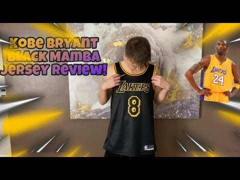 Kobe Bryant Black Mamba City Edition Jersey Detailed Review! (The Best Jersey Ever!)