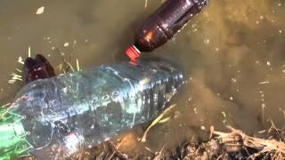 Рибалка без вудки на пляшку Plastic bottle fishing