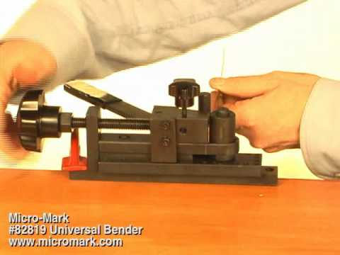 How to Bend Metal Strip Using Micro-Mark #82819 Universal Bender