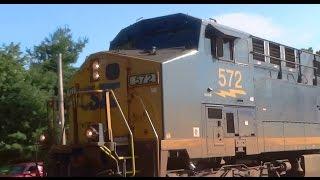 CSX Mixed Freight Train Moving Thru St Denis