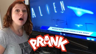 FUNNIEST ALIEN INVASION CONSPIRACY PRANK EVER! 4/18/18