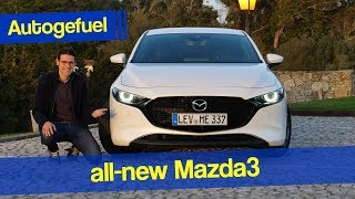 2020 Mazda3 REVIEW hatch vs sedan Skyactiv-G test - Autogefuel