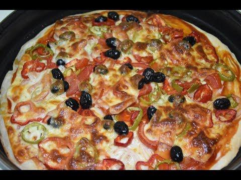 صورة  طريقة عمل البيتزا بيتزا بالخضروات والجبن بطريقة سهله ( من مطبخ ام عمار للأكلات العراقية ) طريقة عمل البيتزا من يوتيوب