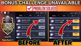 How to Fix Bonus challenge Unavailable problem in Pubg Mobile Lite || Registration problem solved ||