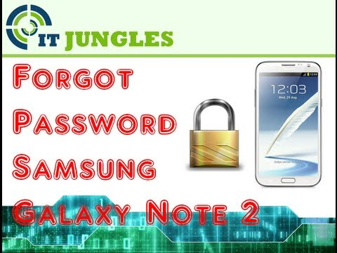 how to change password on samsung galaxy note 2