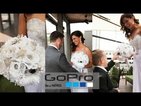 The First GoPro HERO3 Wedding Bouquet Camera
