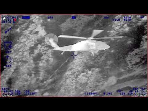 Utah National Guard rescues an injured hiker on Kings Peak