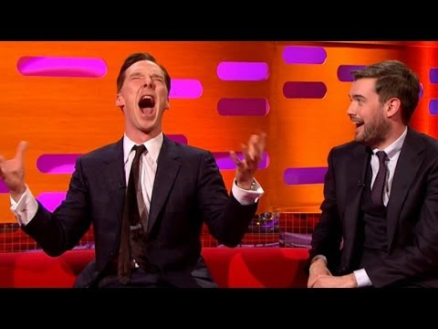 Benedict Cumberbatch Impersonates Chewbacca In Front Of Harrison Ford And It's Priceless