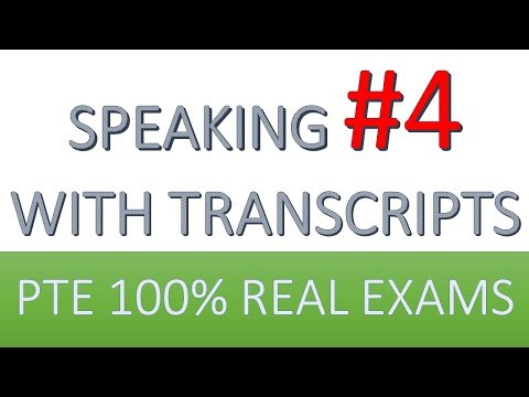 PTE Practice Speaking 4: from real test questions (all sections)