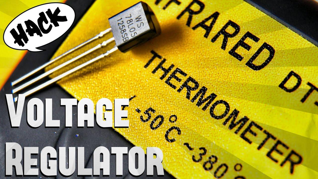 How To Use 7805 Voltage Regulator Into Temperature Sensor Youtube Circuit