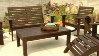 Hudson Adirondack Conversation Set Seats 4 - Product Review Video