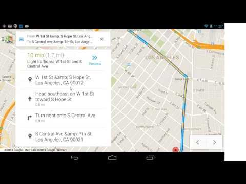 Android Voice Commands Maps and Navigation on a Google Nexus Wi-Fi tablet