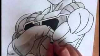 "Dibujando al papa de goku"".BARDAD"