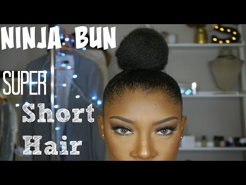 Ninja Bun on Super Short Hair
