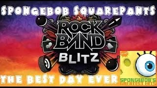 SpongeBob SquarePants - A Day Like This - Rock Band Blitz Playthrough (5 Gold Stars)