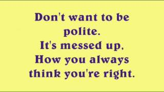 Kelly Osbourne - Shut Up (Lyrics)