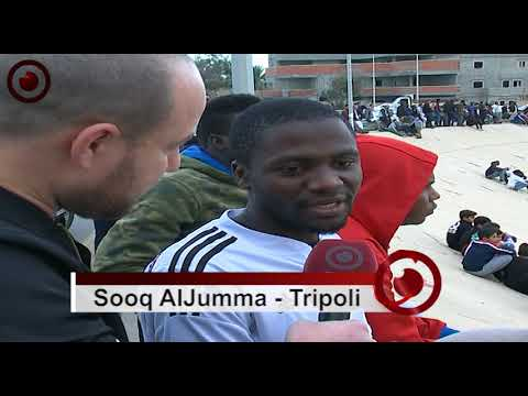 African Football Match in Libyan Capital Tripoli