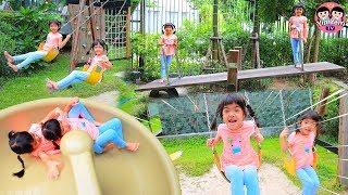 หนูยิ้มหนูแย้ม   เล่นสนามเด็กเล่น เที่ยวชลบุรี บัลโคนีซีไซด์ศรีราชา Playground