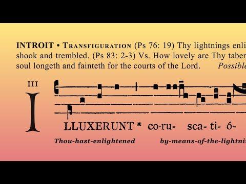 "INTROIT: ""Illuxérunt coruscatiónes tuae orbi terrae"" (Feast of the Transfiguration)"