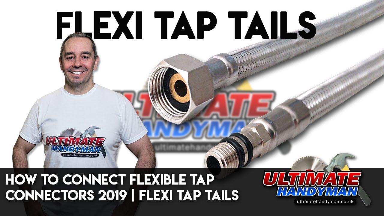 "NEW 2 X Plumbing Flexible Tap Connector Pushfit 300mm 15mm x 1//2/"" 10mm Bore"