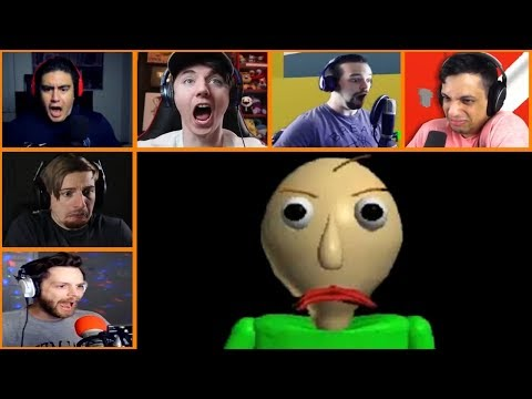 Let's Players Reaction To Making Baldi...