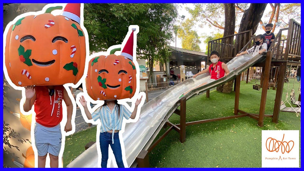 สกายเลอร์ | เที่ยว Pumpkin Art Town คาเฟ่ริมน้ำ ที่เที่ยวสามโคก ปทุมธานี