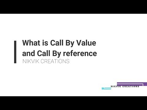 CALL BY VALUE & CALL BY REFERENCE IN C || NIKVIK CREATIONS