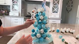 Disney Elsa Chocolate covered Strawberry cake pop Tower for birthday party(, 2018-01-14T12:43:00.000Z)