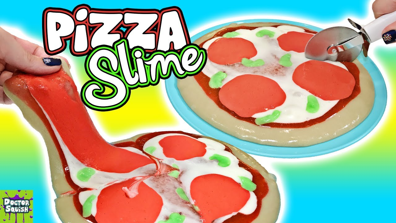 Squishy Maker Gudang Slime : Pizza Slime! Homemade Squishy Slime Pizza! Doctor Squish - YouTube