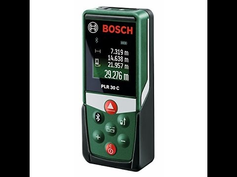 Bosch plr laser entfernungsmesser messbereich max m youtube