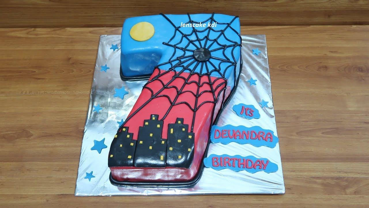 Dekorasi Kue Ulang Tahun Spiderman 7 Youtube