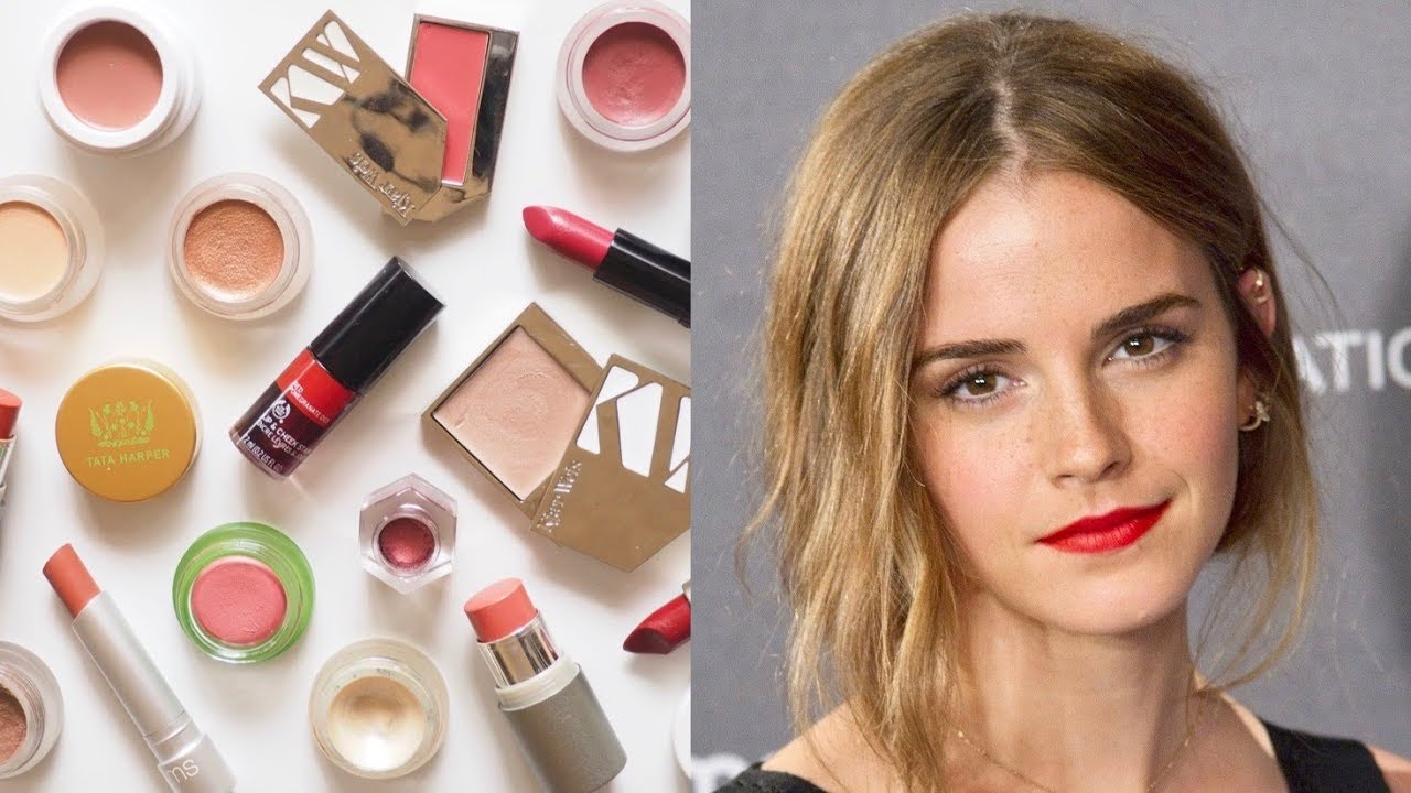 Emma Watson Makeup Bag  English Rose Look with Clean Beauty