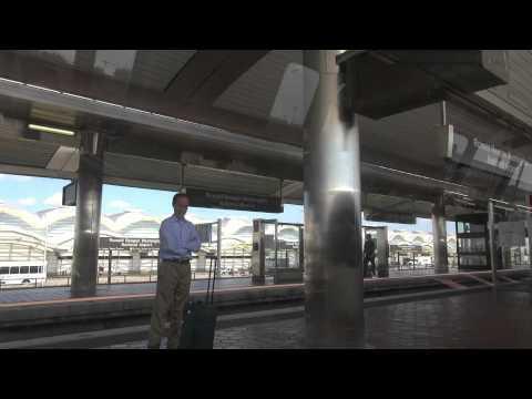 Washington DC - WMATA Metro Blue Line at Ronald Reagan National Airport (DCA)