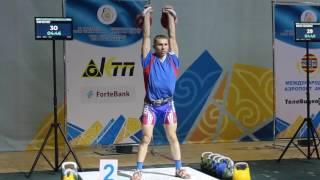 ЧМ 2016. И. Беляев. толчок ДЦ 85 (Мировой рекорд!), г. Актобе (Казахстан)