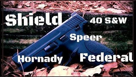 Smith & Wesson M&P Shield 40 S&W Short Barrel Ammo Gel Test (HD)